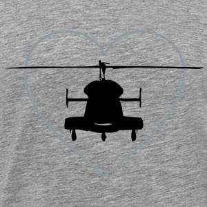 Helicopter in the heart of thorns - Men's Premium T-Shirt