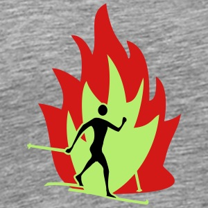 Cross country fire flame - Men's Premium T-Shirt
