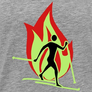 Cross country flame - Men's Premium T-Shirt