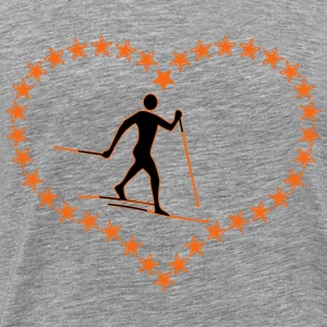 Cross-country star heart - Men's Premium T-Shirt