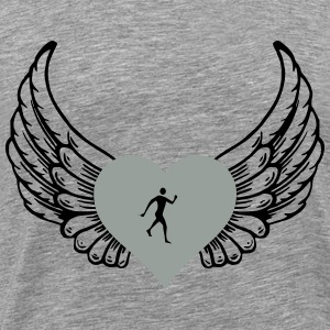Cross country heart with wings - Men's Premium T-Shirt