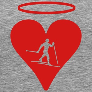 Cross-country skiing Halo - Men's Premium T-Shirt