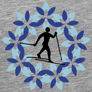 Cross-country skiers in the flower district - Men's Premium T-Shirt