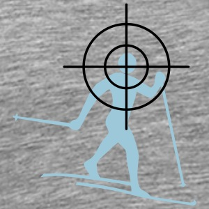 Cross-country skiing cross-hairs - Men's Premium T-Shirt
