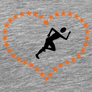 Joggers in the stars of heart - Men's Premium T-Shirt