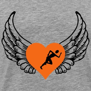 Jogger heart wings - Men's Premium T-Shirt