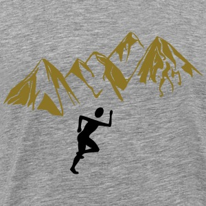 Jogger mountains - Men's Premium T-Shirt