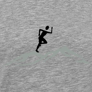 Jogging on mountain - Men's Premium T-Shirt