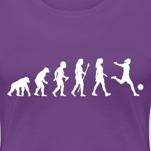 Women's Soccer Evolution - Women's Premium T-Shirt