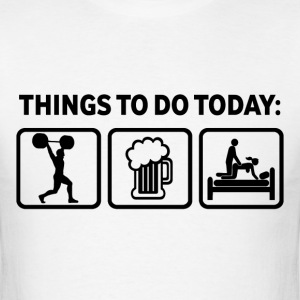 Weightlifting Plan For Today Funny T Shirt - Men's T-Shirt
