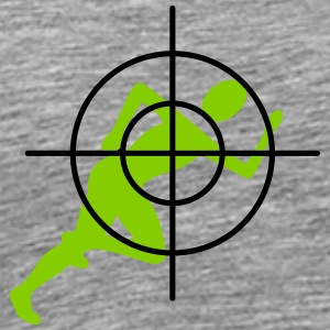 Joggers in the crosshairs - Men's Premium T-Shirt