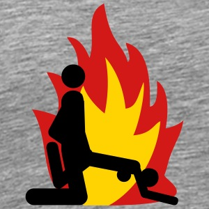Hot bums fire - Men's Premium T-Shirt