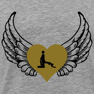 From behind heart wings - Men's Premium T-Shirt