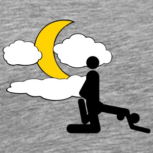 Rear, moon, clouds - Men's Premium T-Shirt