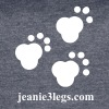 Women's Vintage Sport Tee Paw Prints (White Graphic) - Women's Vintage Sport T-Shirt