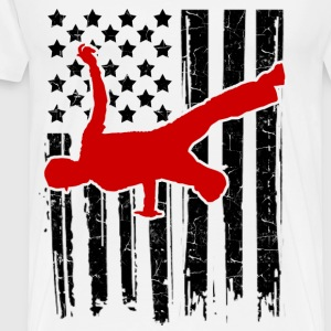 breakdance flag 121sa.png T-Shirts - Men's Premium T-Shirt