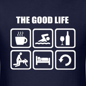 Swimming The Good Life - Men's T-Shirt