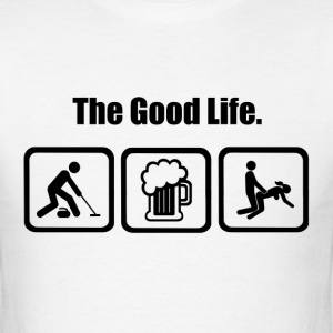 Curling Sport The Good Life - Men's T-Shirt