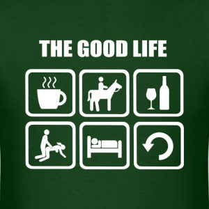 Funny Horse Riding The Good Life - Men's T-Shirt