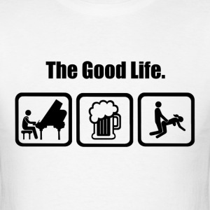 Funny Piano The Good Life - Men's T-Shirt