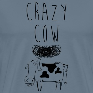 Crazy cow art - Men's Premium T-Shirt