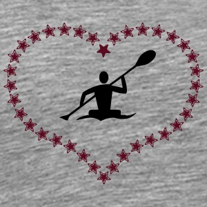 Canoeing in the asterisk heart - Men's Premium T-Shirt