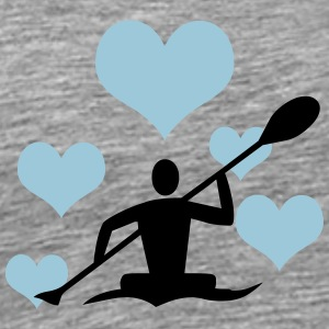Canoe with 5 hearts - Men's Premium T-Shirt