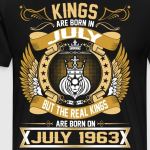 The Real Kings Are Born On July 1963 T-Shirts - Men's Premium T-Shirt