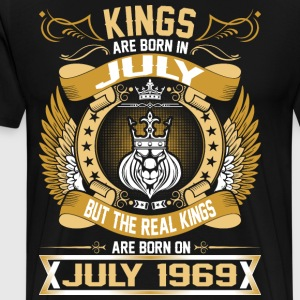 The Real Kings Are Born On July 1969 T-Shirts - Men's Premium T-Shirt