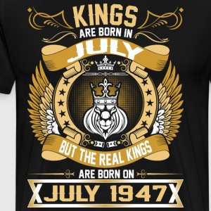 The Real Kings Are Born On July 1947 T-Shirts - Men's Premium T-Shirt