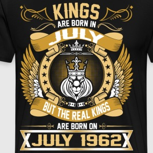 The Real Kings Are Born On July 1962 T-Shirts - Men's Premium T-Shirt