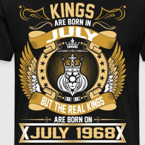 The Real Kings Are Born On July 1968 T-Shirts - Men's Premium T-Shirt