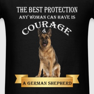 German Shepherd - The best protection any woman ca - Men's T-Shirt