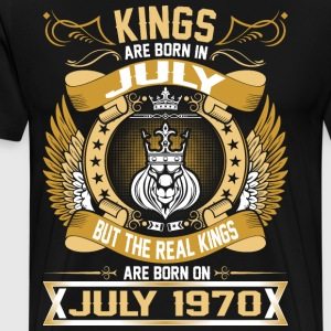 The Real Kings Are Born On July 1970 T-Shirts - Men's Premium T-Shirt