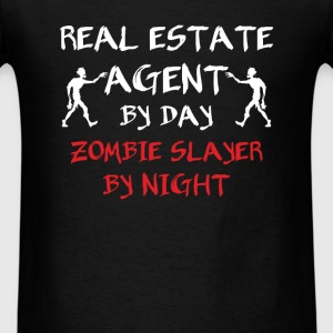 Real Estate Agent - Real estate agent by day zombi - Men's T-Shirt