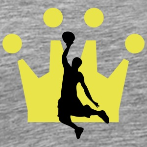 Basketball Crown - Men's Premium T-Shirt