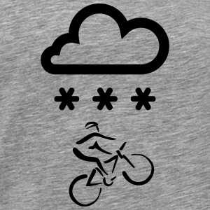 Bike riding in the winter - Men's Premium T-Shirt