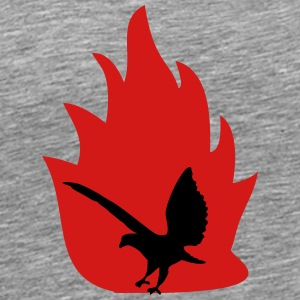 Eagle with fire - Men's Premium T-Shirt