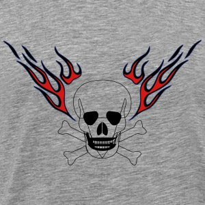 Skull with flames - Men's Premium T-Shirt