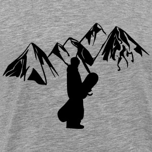 Mountain snowboarder - Men's Premium T-Shirt