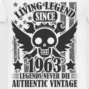 LIVING 1963 1AS.png T-Shirts - Men's Premium T-Shirt