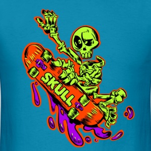Skateboarding T-Shirts Skeleton Skateboard T-Shirt - Men's T-Shirt
