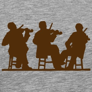 3 Violin Player - Men's Premium T-Shirt
