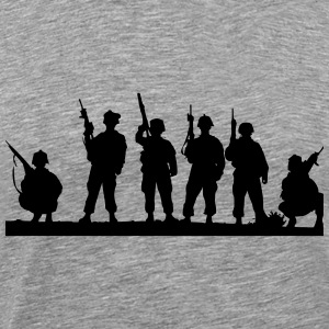 Soldier silhouette - Men's Premium T-Shirt