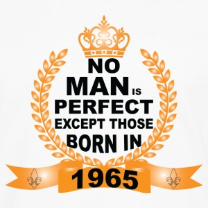 No Man is Perfect Except Those Born in 1965 Long Sleeve Shirts - Men's Premium Long Sleeve T-Shirt