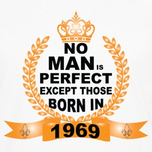 No Man is Perfect Except Those Born in 1969 Long Sleeve Shirts - Men's Premium Long Sleeve T-Shirt