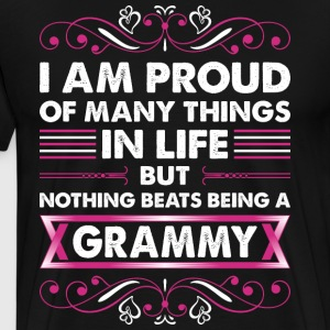 I Am Proud Of Many Things In Life Grammy T-Shirts - Men's Premium T-Shirt