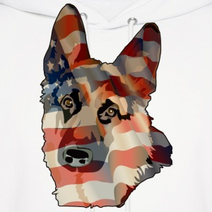 Patriotic German Shepherd  - Men's Hoodie