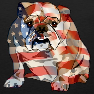 Patriotic Bulldog - Men's Premium Tank