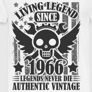 living 1966 a1.png T-Shirts - Men's Premium T-Shirt